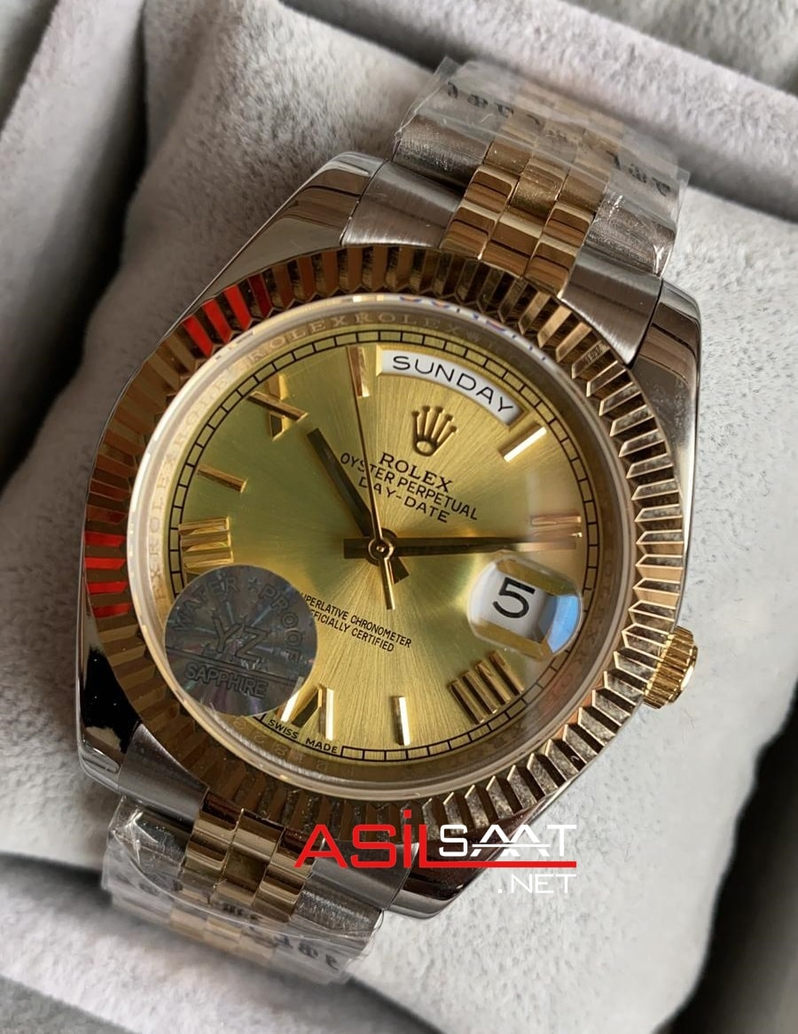 Rolex Day-Date Two Tone Replika Saat ROLDD017