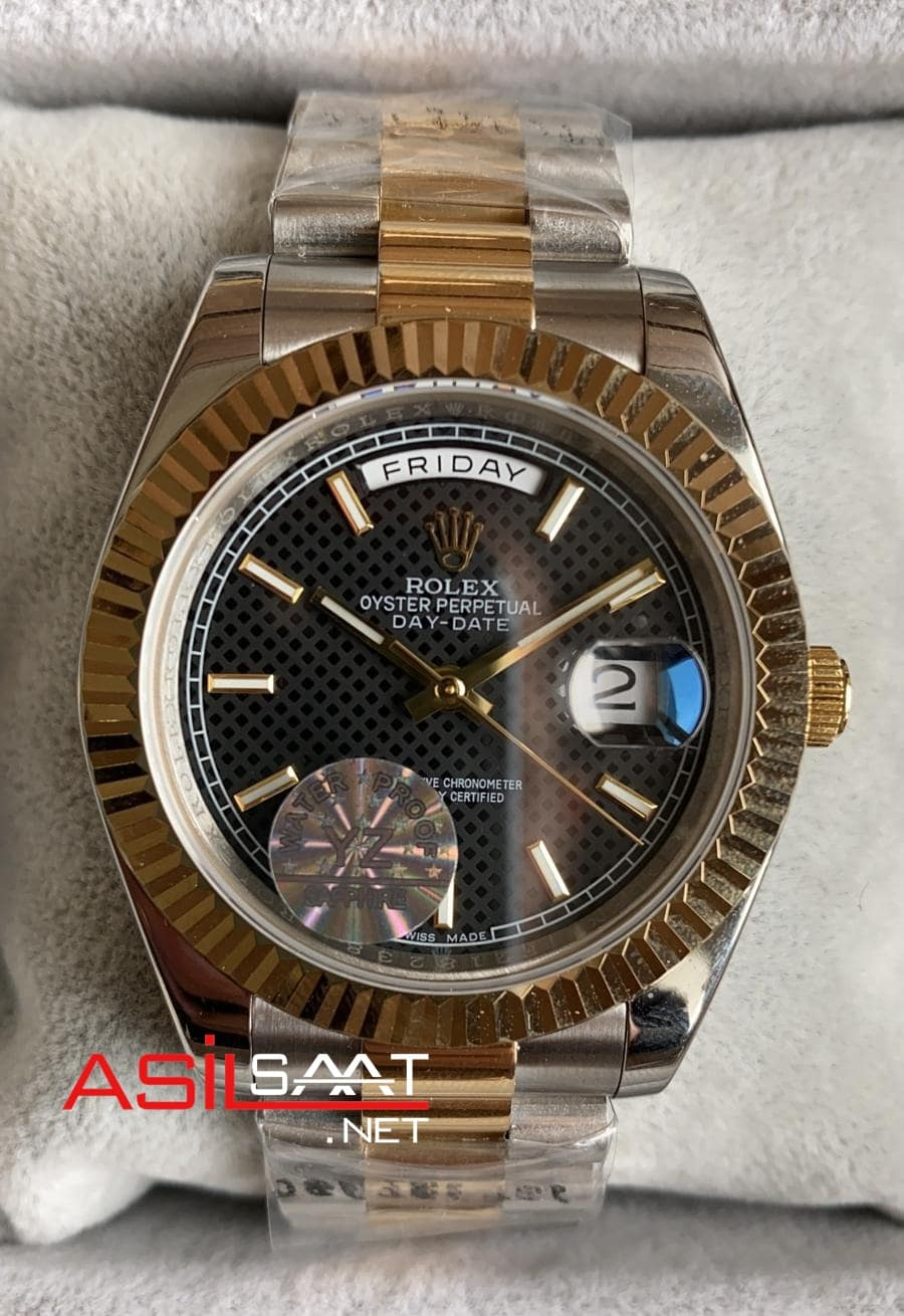 Rolex Day-Date Two Tone Replika Saat ROLDD018