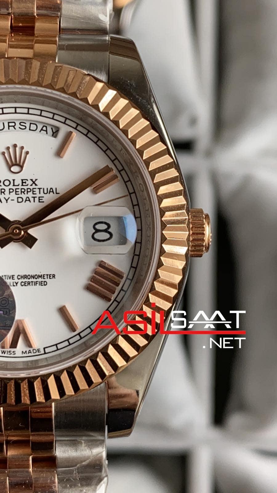 Rolex Day-Date Two Tone Replika Saat ROLDD043