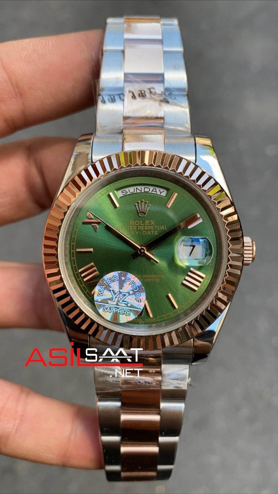 Rolex Day-Date Two Tone Replika Saat ROLDD045