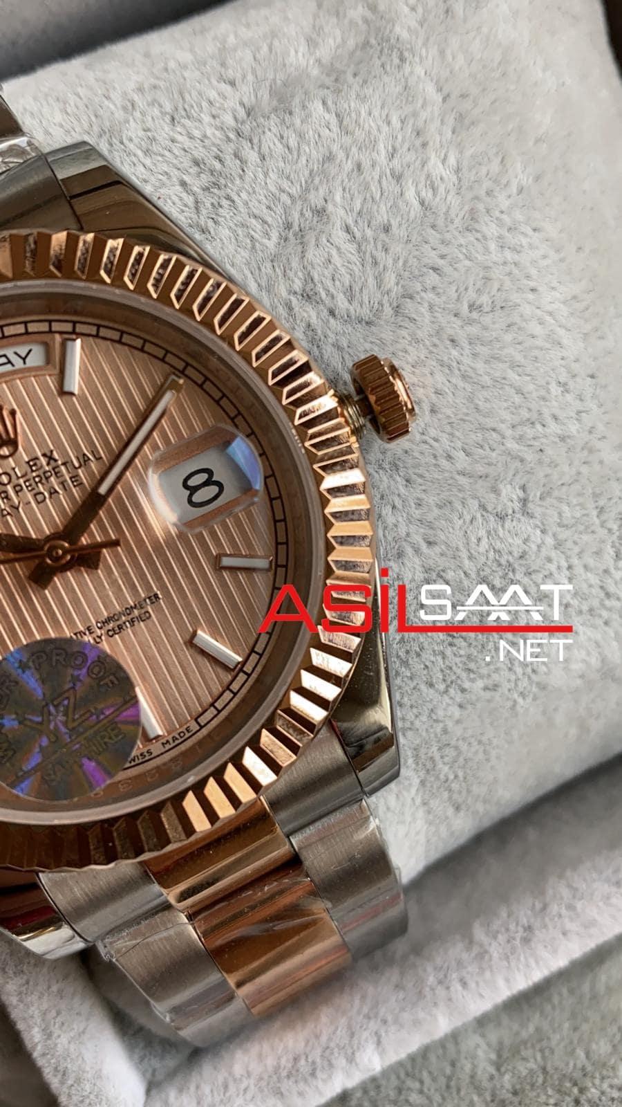 Rolex Day-Date Two Tone Replika Saat ROLDD067