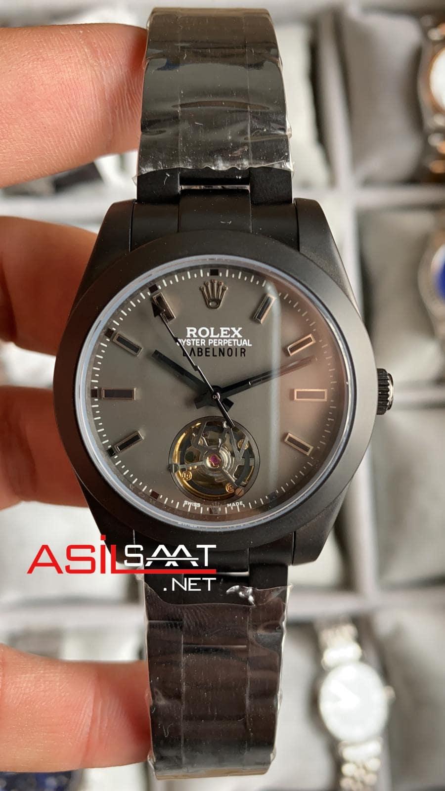 Rolex Label Noir Tourbillon Black Replika Saat ROLNOR002