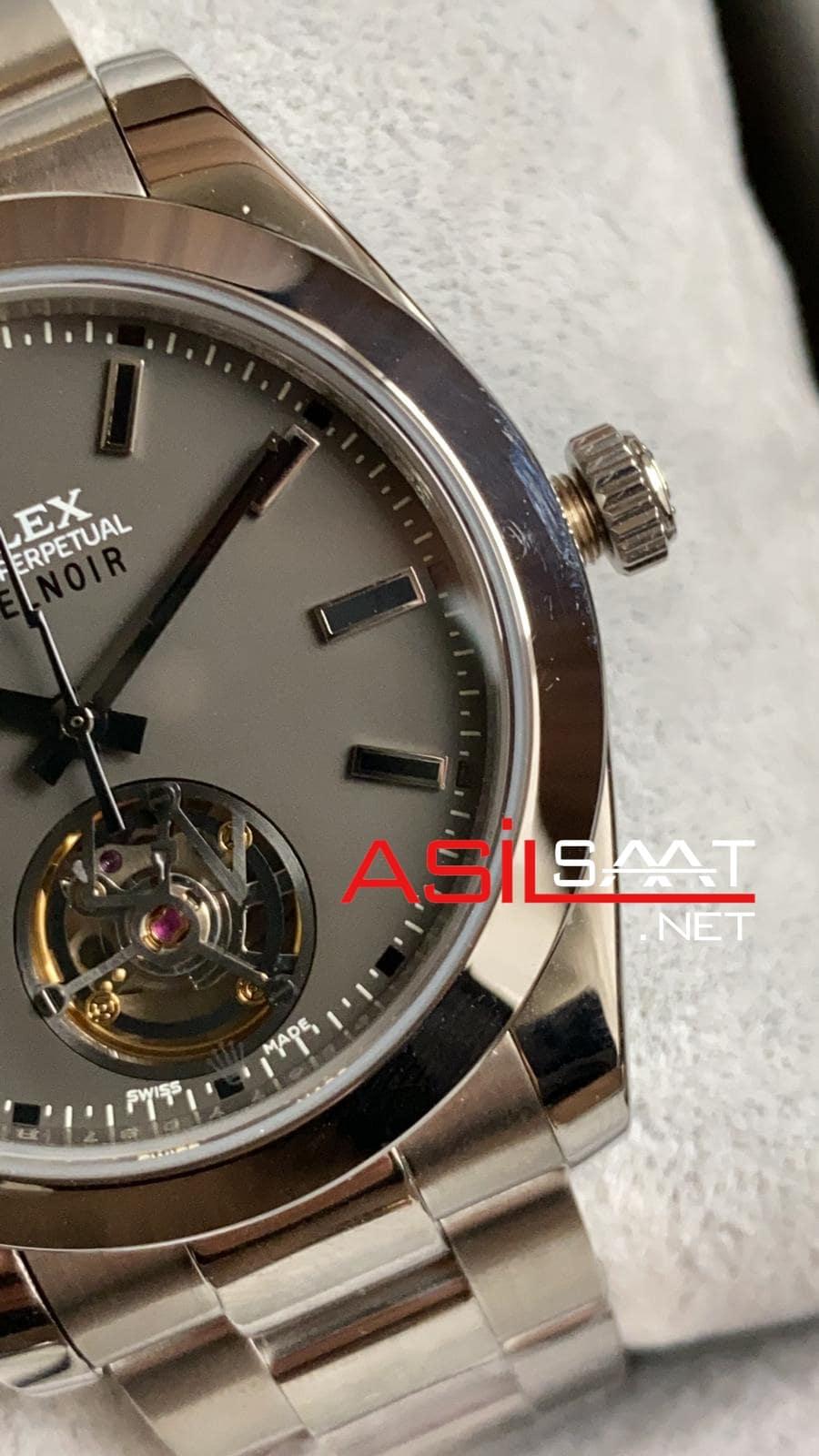 Rolex Label Noir Tourbillon Silver Replika Saat ROLNOR001