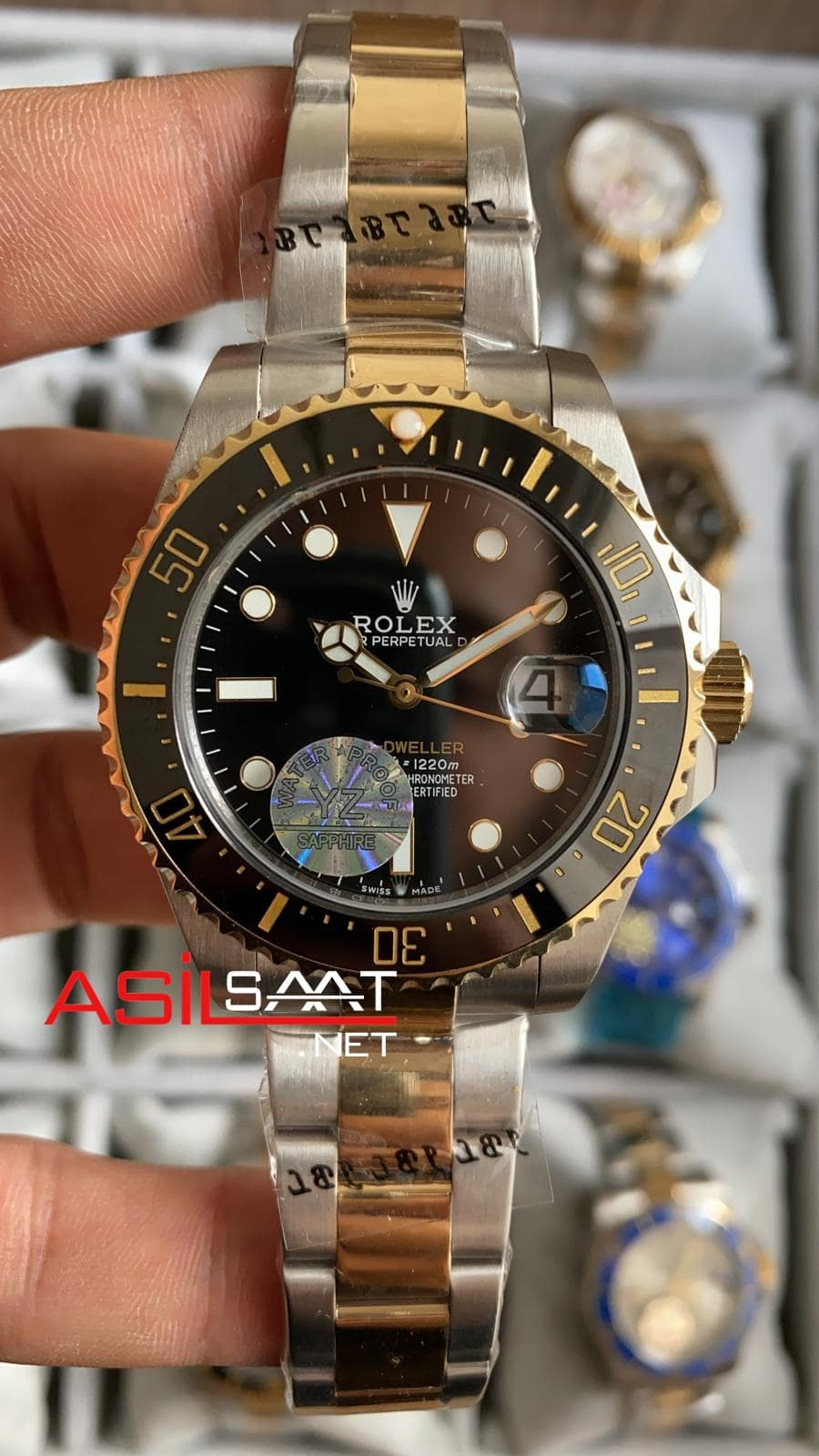 Rolex Sea-Dweller Two Tone Replika Saat ROLSD002