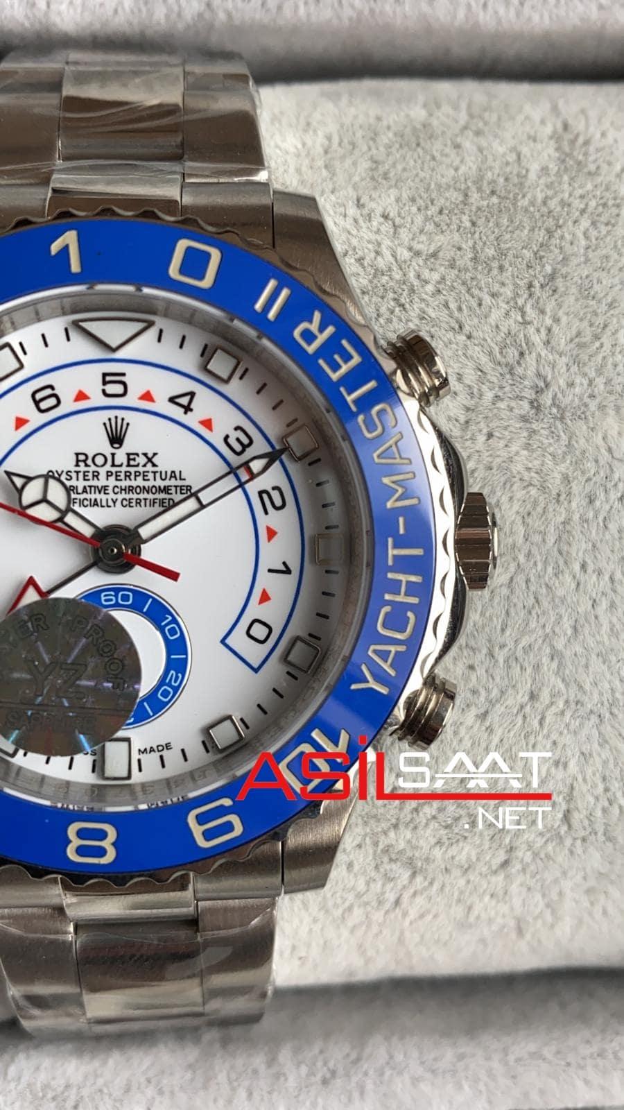 Rolex Yacht-Master II Silver Replika Saat ROLYM001
