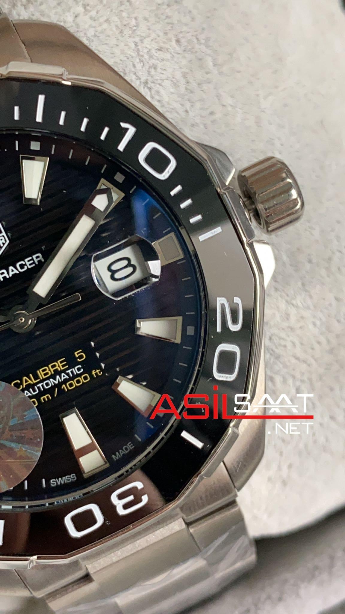 TAG Heuer Aquaracer Calibre 5 Silver Replika Saat TAGA003