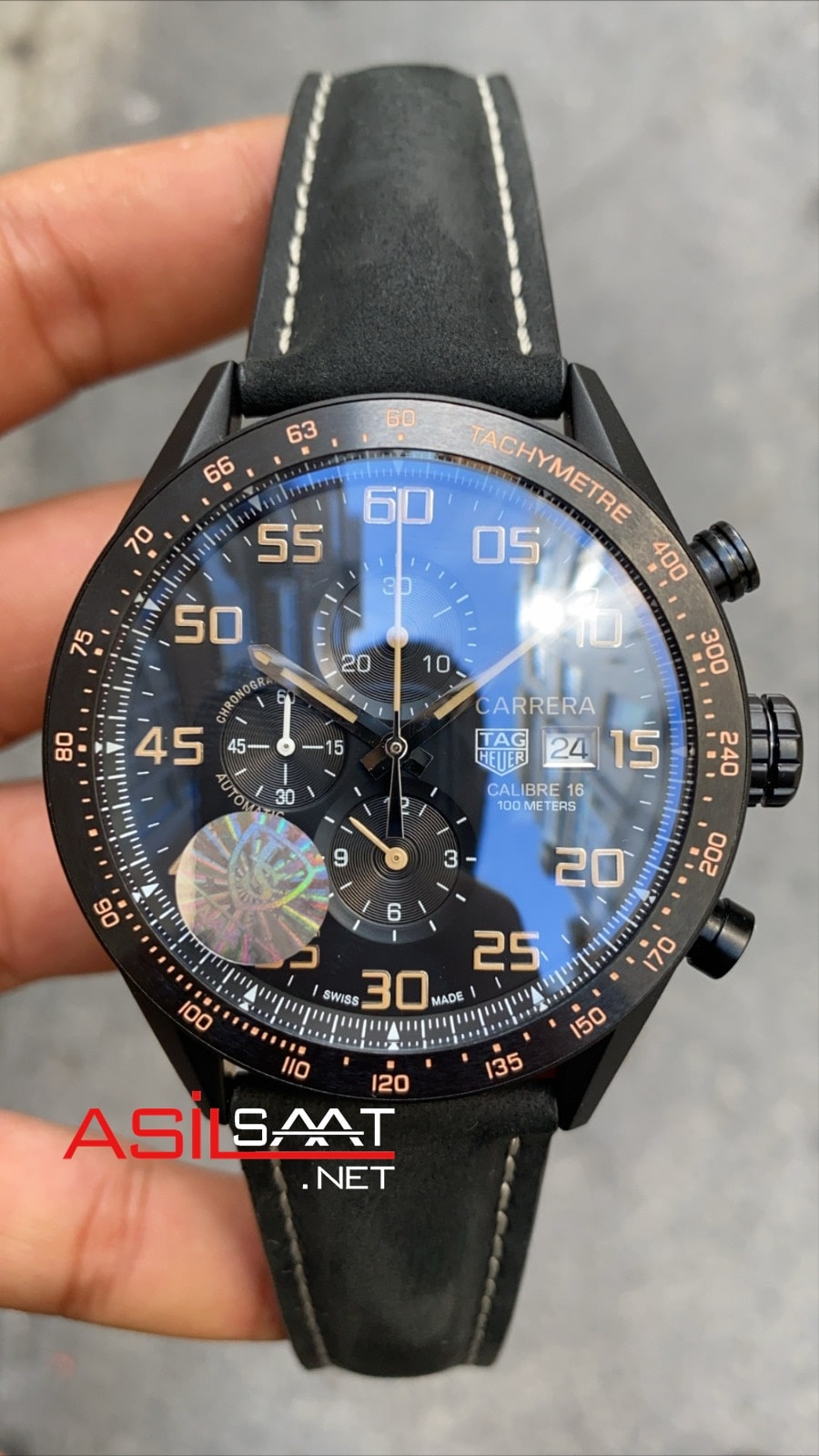 TAG Heuer Carrera Calibre16 Black Chronograph Replika Saat TAGC16010