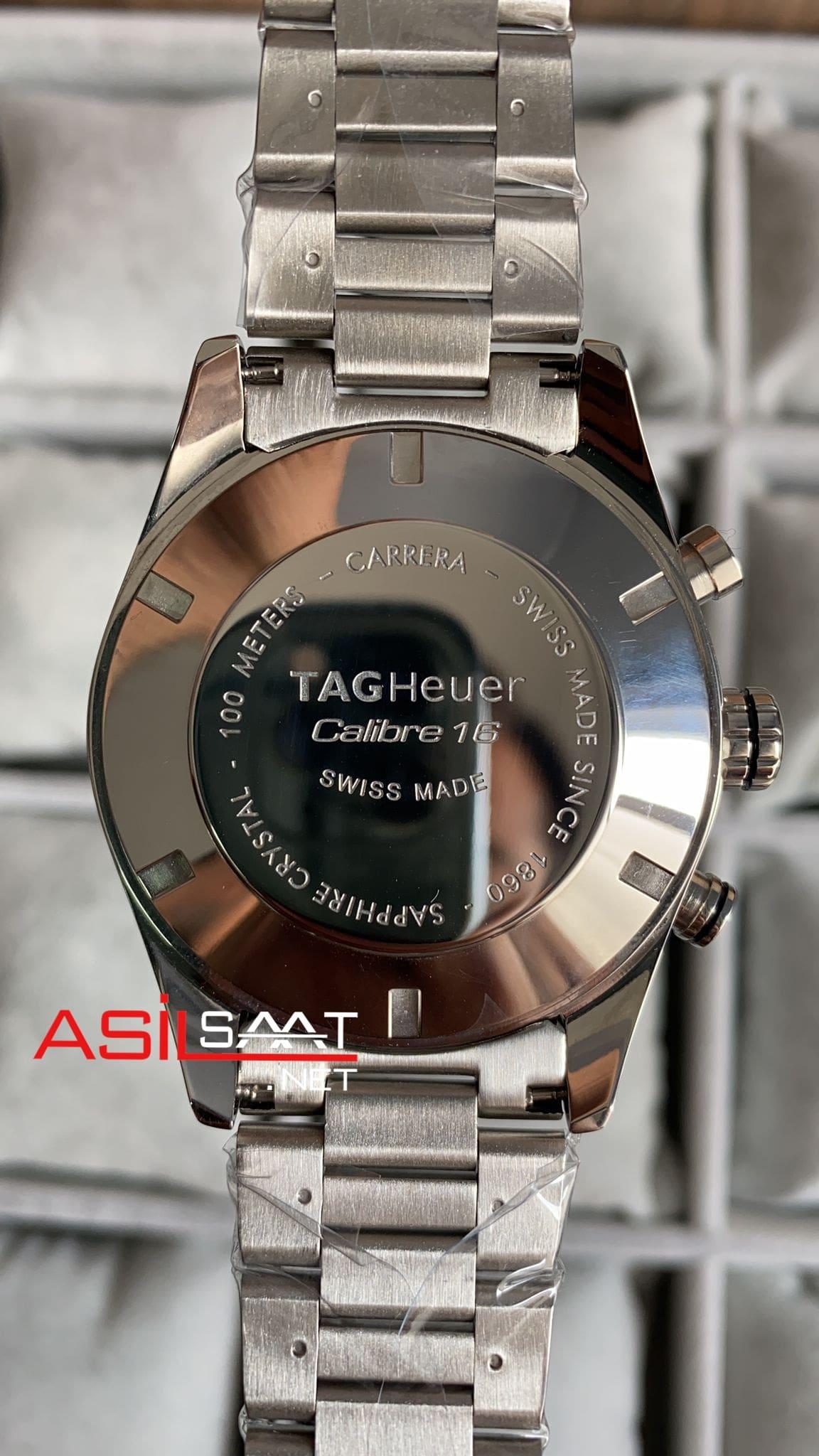 TAG Heuer Carrera Calibre16 Silver Chronograph Replika Saat TAGC16003