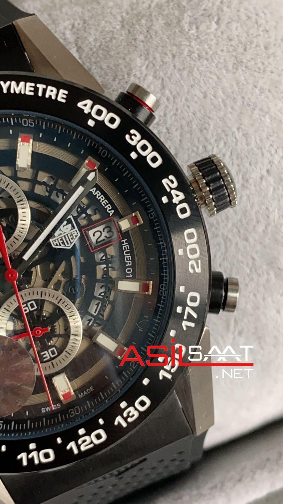 TAG Heuer Carrera Heuer 01 Silver Replika Saat TAGCH009