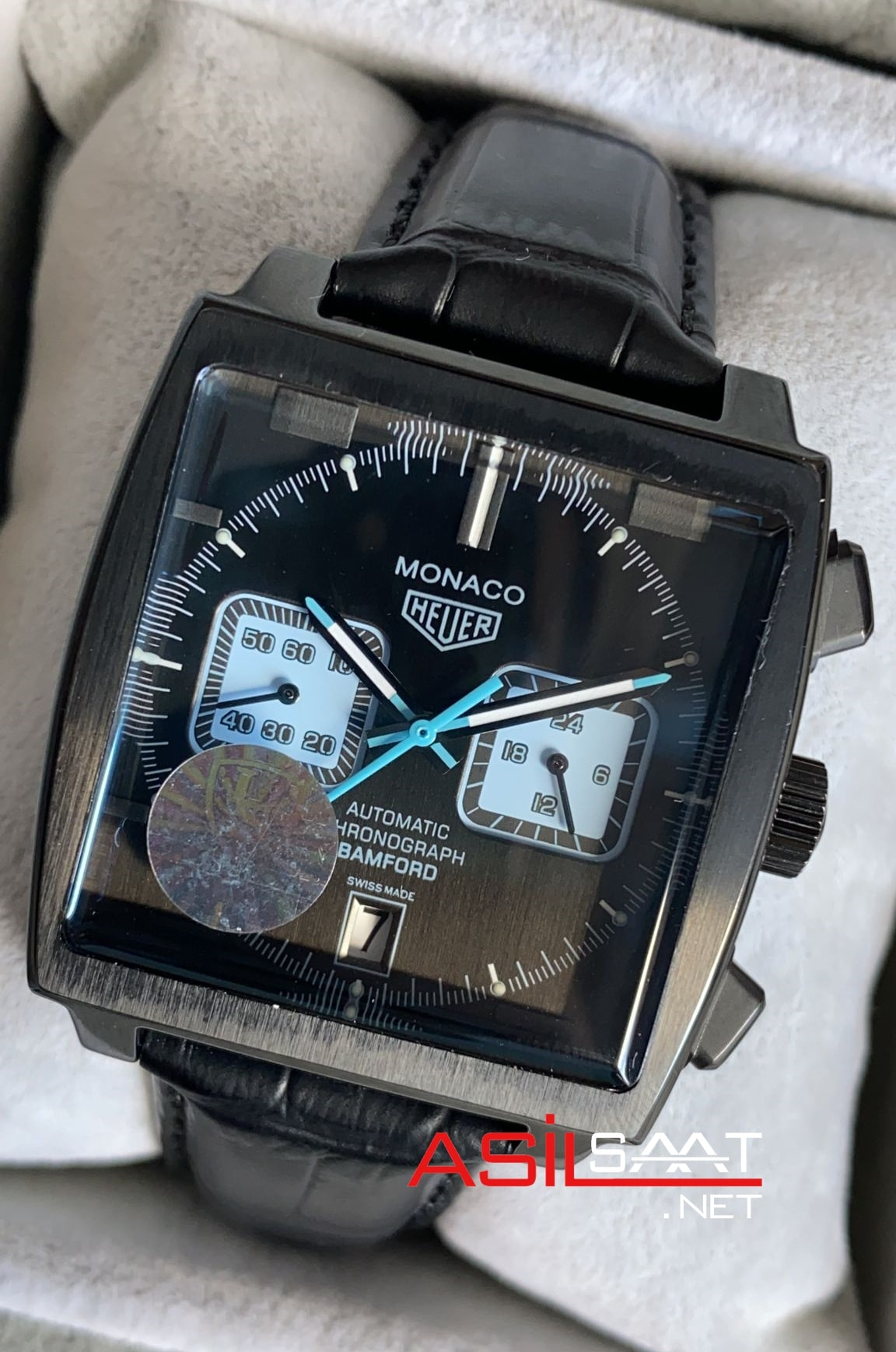 Tag Heuer Monaco Black Replika Saat TAGMO005