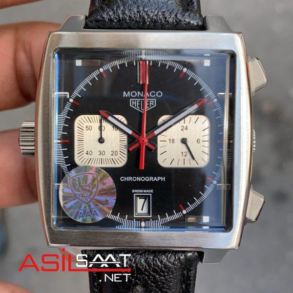 Tag Heuer Monaco Silver Replika Saat TAGMO001