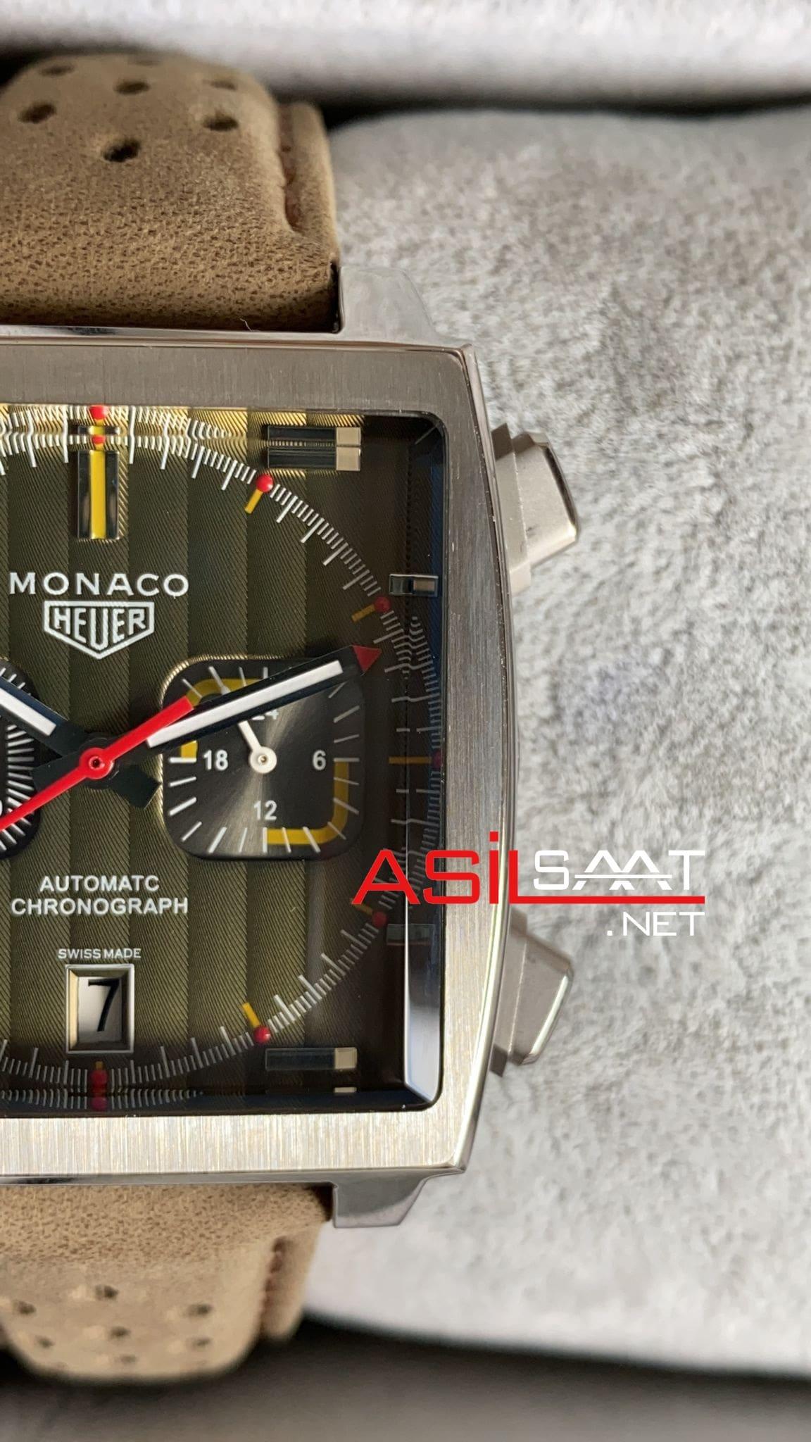 Tag Heuer Monaco Silver Replika Saat TAGMO003