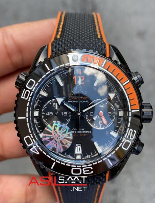 OMEGA Seamaster Black Chronograph Replika Saat OSEA026