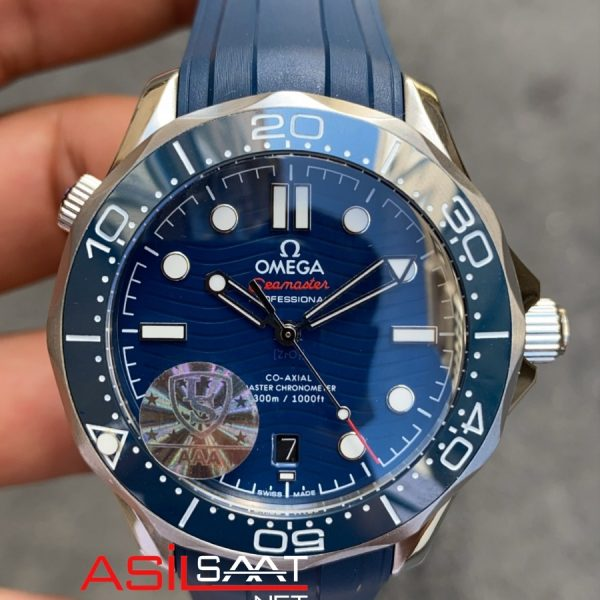 OMEGA Seamaster Diver 300M Silver Blue Replika Saat OSEAM006