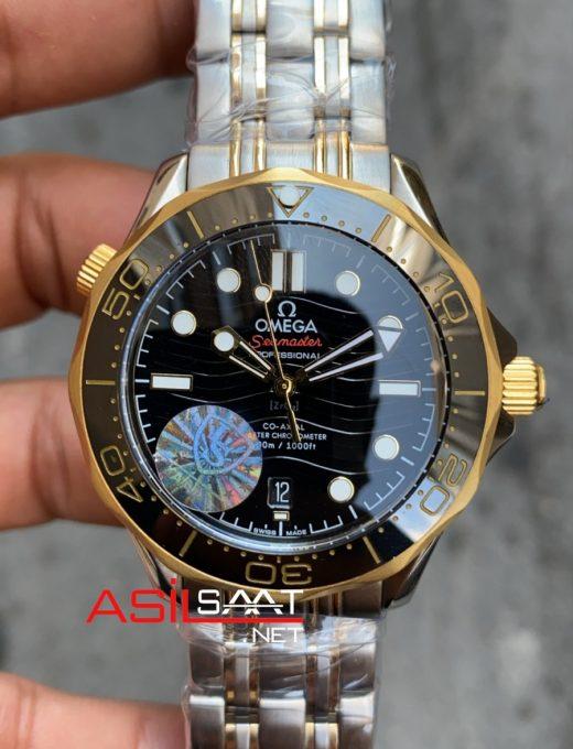 OMEGA Seamaster Diver 300M Silver Gold Replika Saat OSEAM003