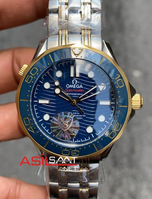 OMEGA Seamaster Diver 300M Silver Gold Replika Saat OSEAM004