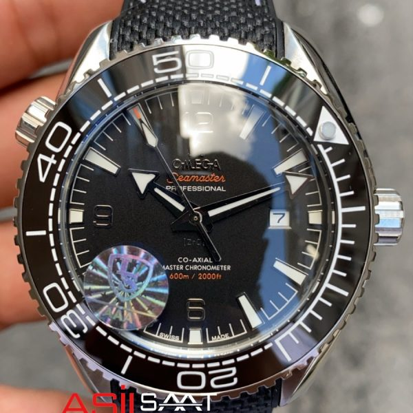 OMEGA Seamaster Silver Black Replika Saat OSEA008