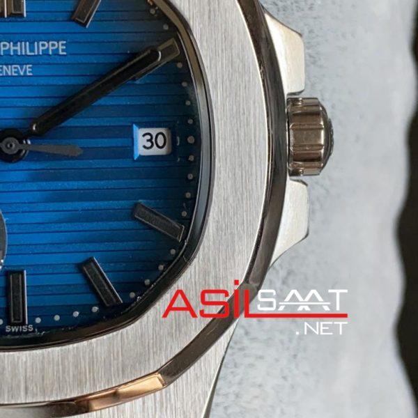 PATEK PHILIPPE Nautilus 40th Year Anniversary Silver Replika Saat PPNA019