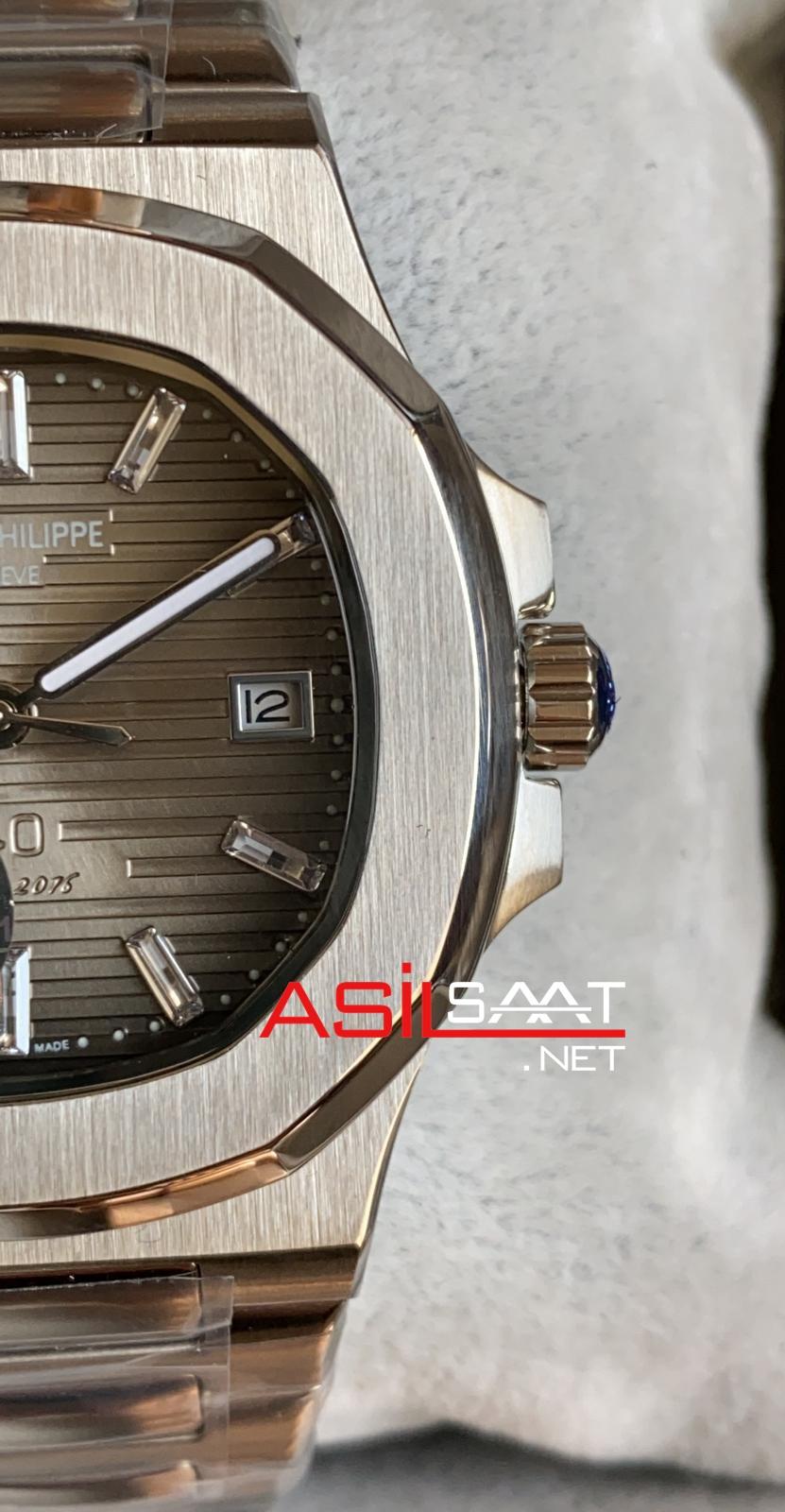 PATEK PHILIPPE Nautilus 40th Year Anniversary Silver Replika Saat PPNA026