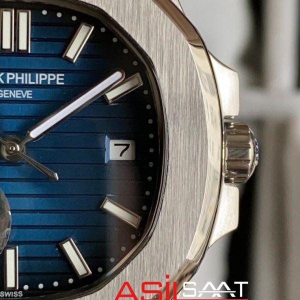 PATEK PHILIPPE Nautilus Silver Replika Saat PPNA003