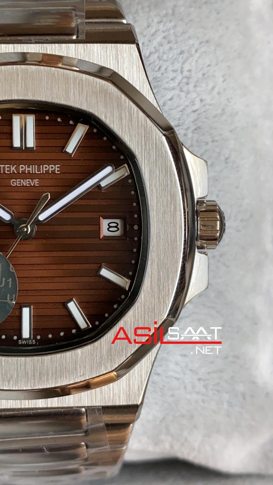PATEK PHILIPPE Nautilus Silver Replika Saat PPNA006