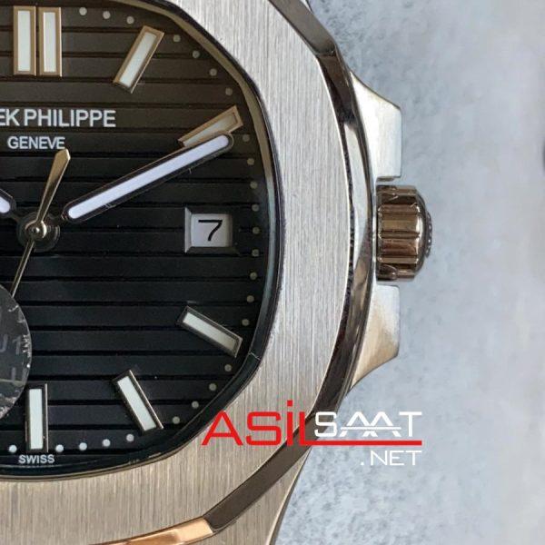 PATEK PHILIPPE Nautilus Silver Replika Saat PPNA014