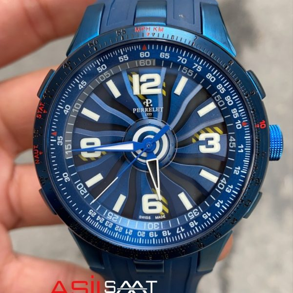 PERRELET Turbine 1777 Blue Automatic Replika Saat PER004