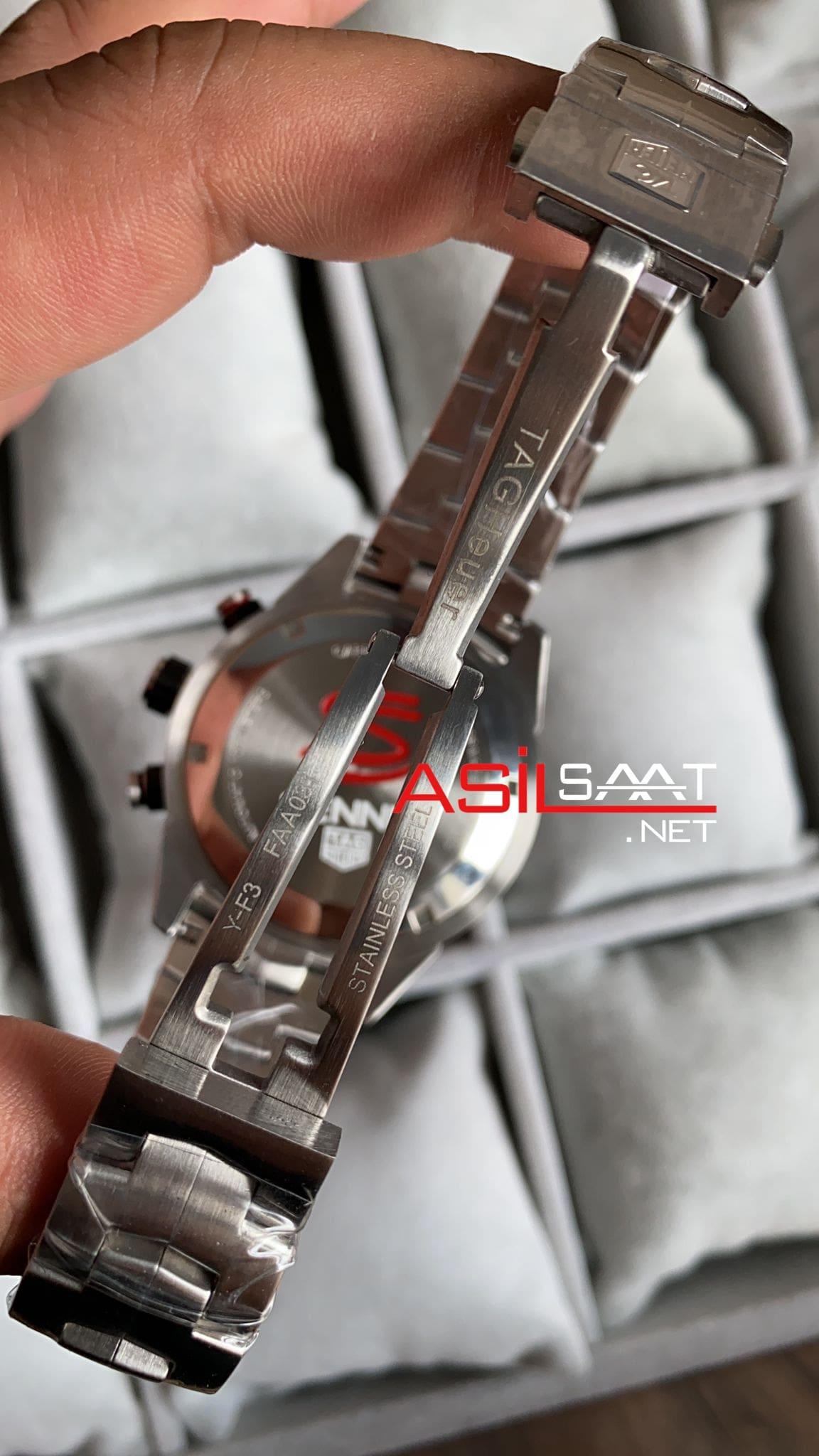 TAG Heuer Ayrton Senna Silver Replika Saat TAGS002