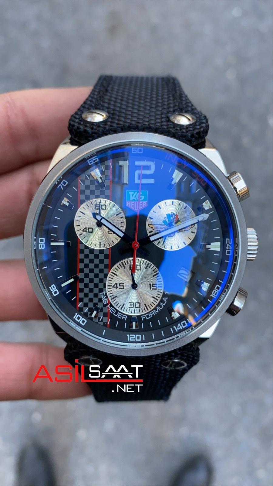 TAG Heuer Formula1 Carrera Silver Chronograph Replika Saat TAGFC010