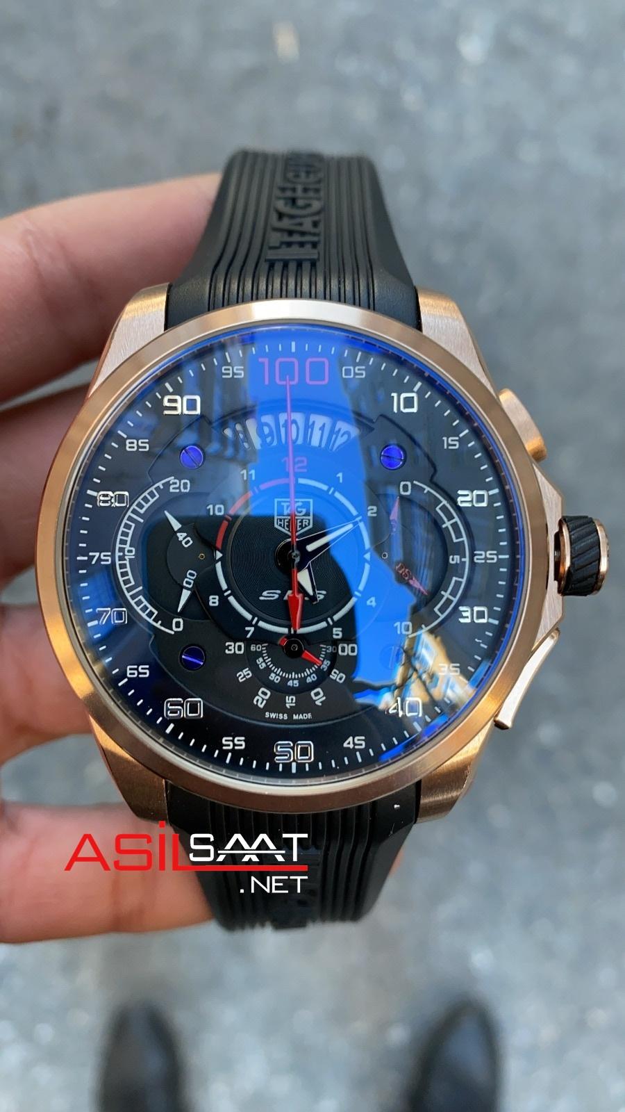 TAG Heuer Mercedes SLS Rosegold Chronograph Replika Saat TAGMB006