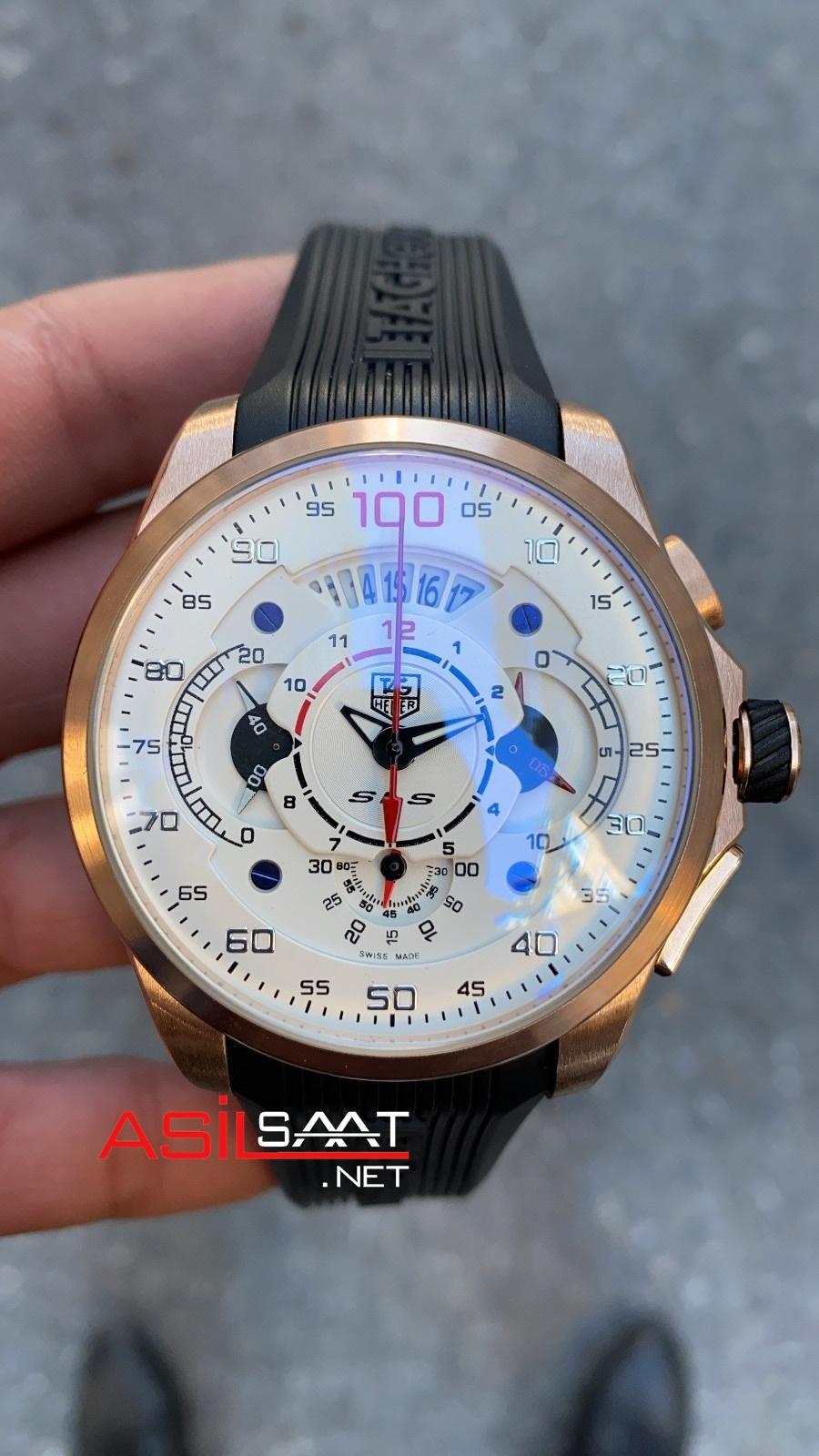 TAG Heuer Mercedes SLS Rosegold Chronograph Replika Saat TAGMB007