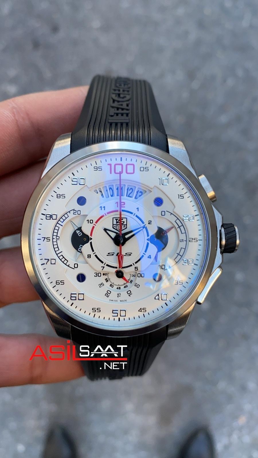 TAG Heuer Mercedes SLS Silver Chronograph Replika Saat TAGMB010