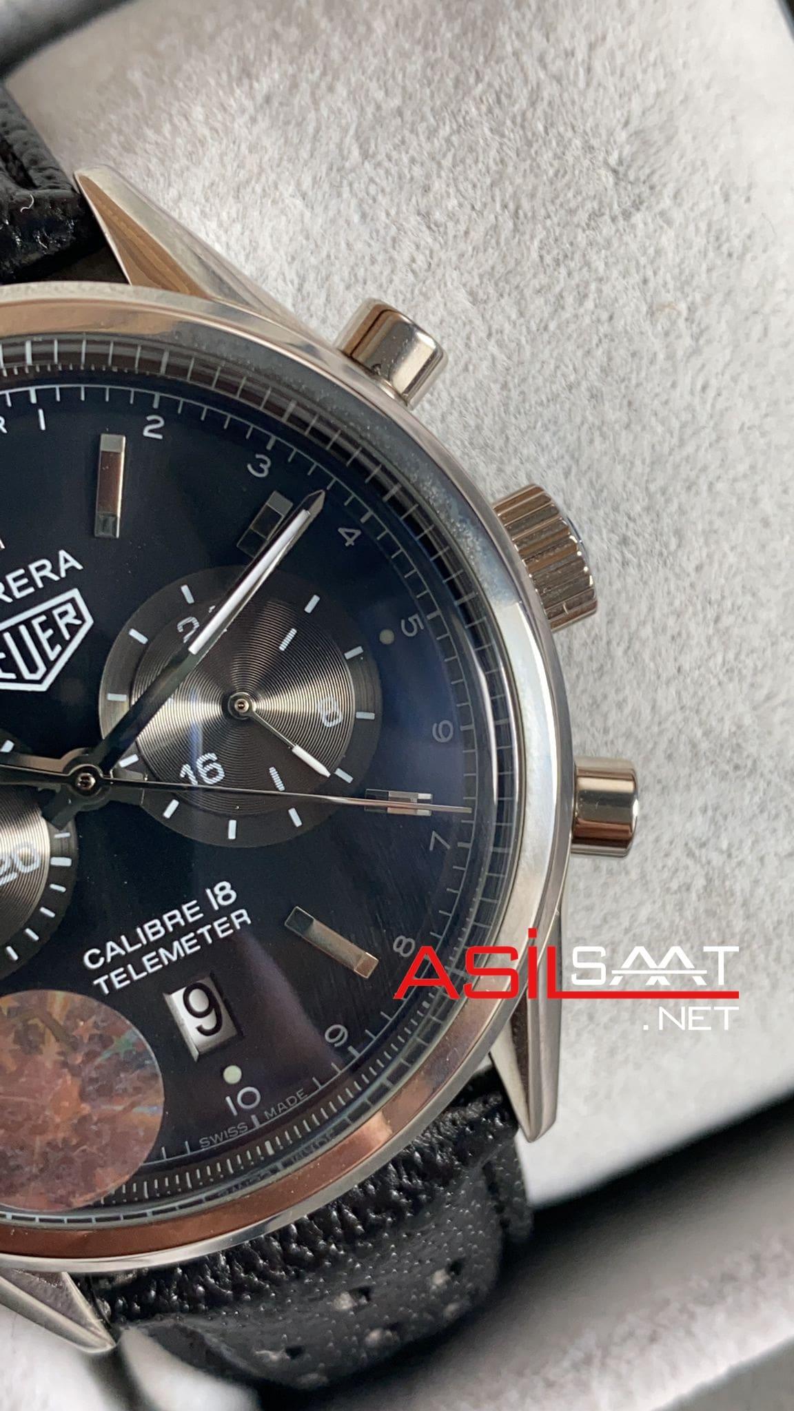 TAG Heuer Telemeter Calibre 18 Silver Replika Saat TAGT001