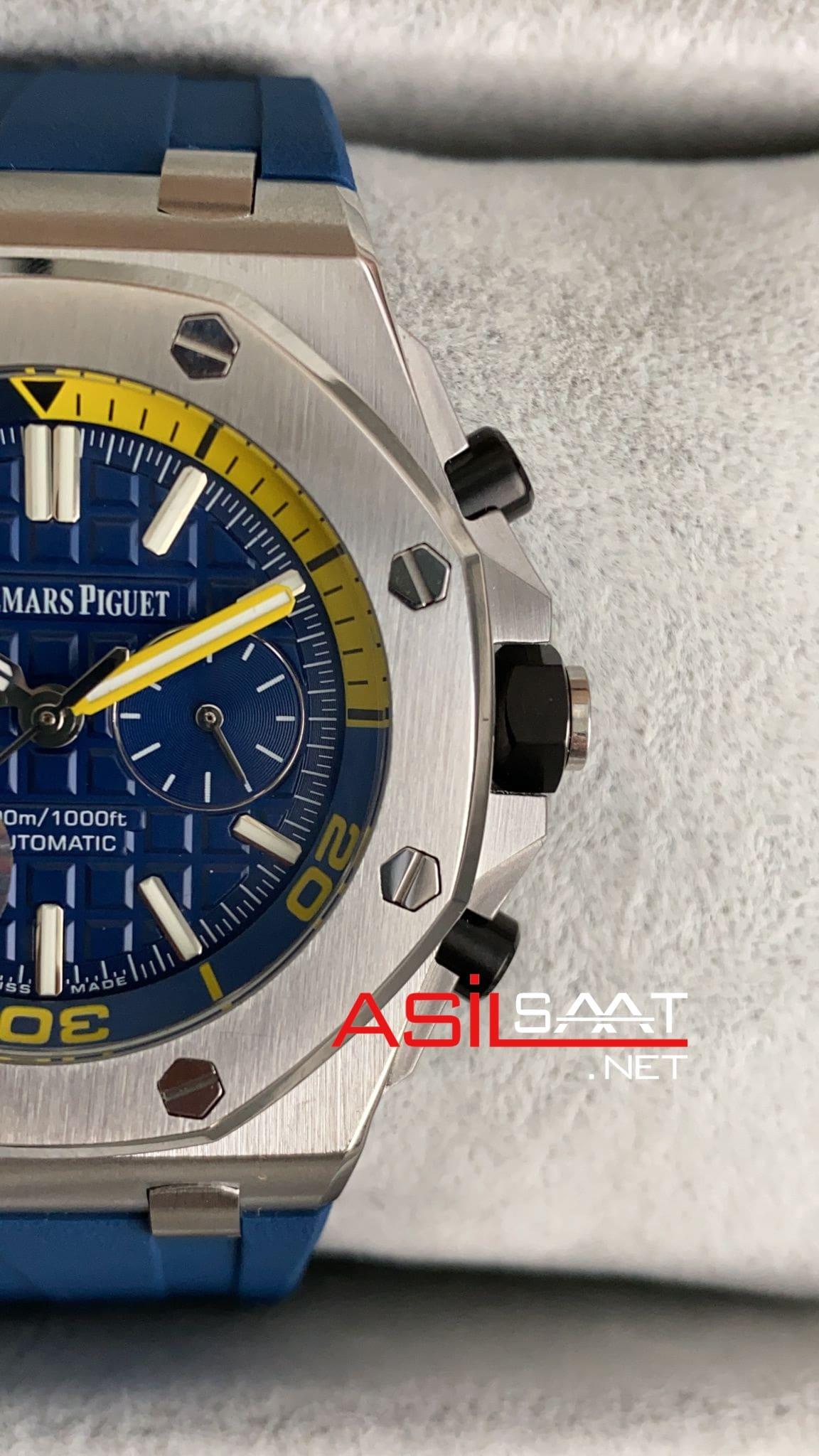 AUDEMARS PIGUET Royal Oak Offshore Silver Blue Replika Saat APOS004