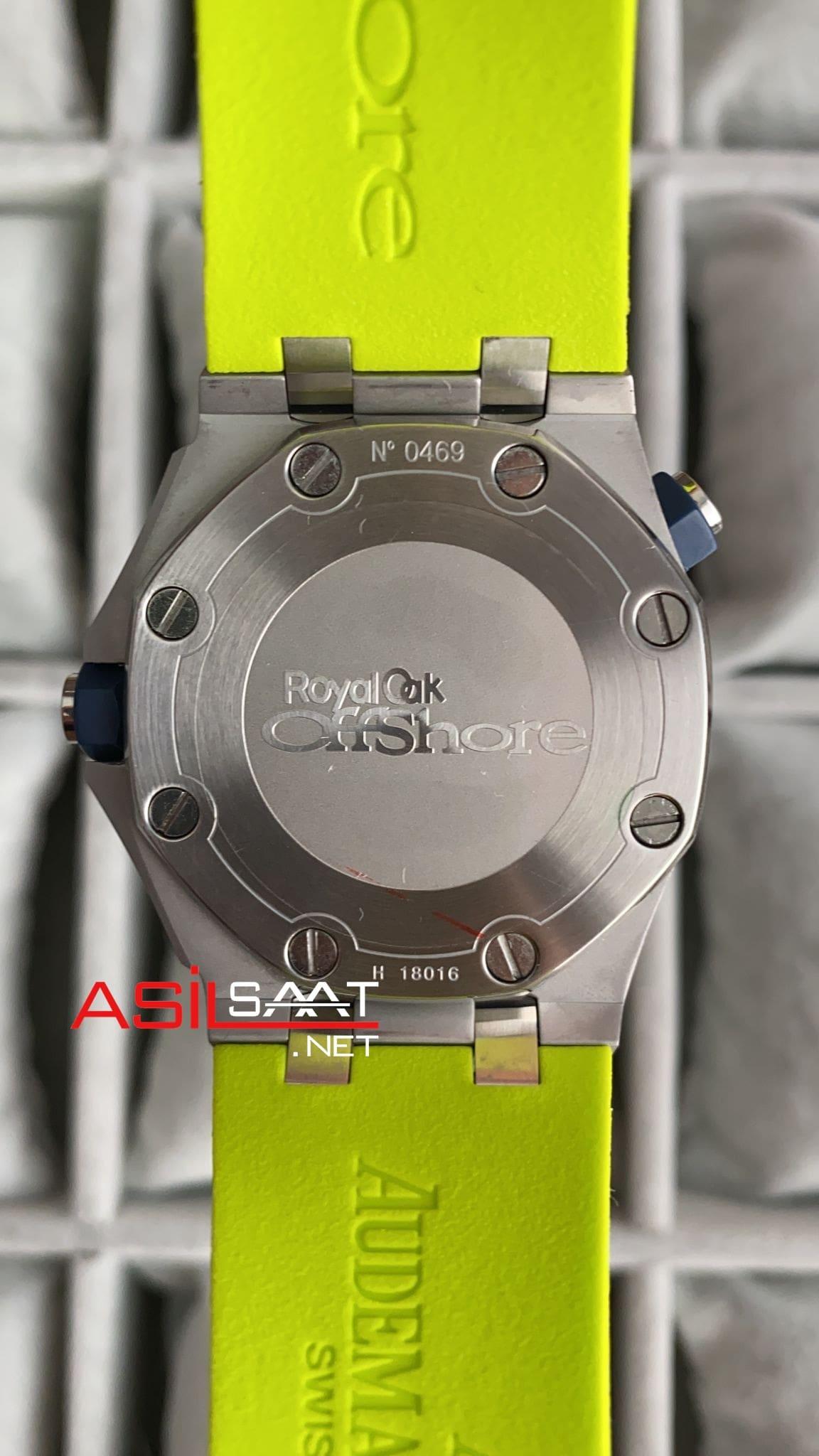 AUDEMARS PIGUET Royal Oak Offshore Silver Green Replika Saat APOS006
