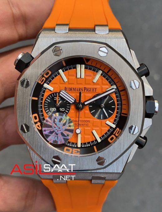 AUDEMARS PIGUET Royal Oak Offshore Silver Orange Replika Saat APOS005