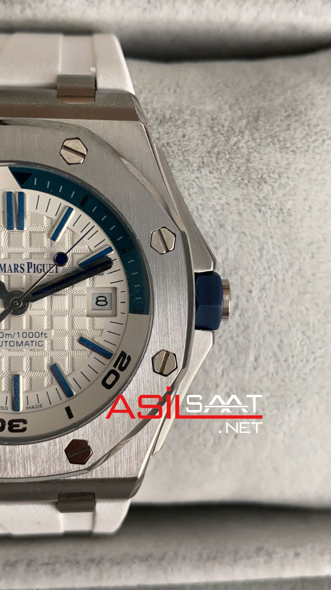 AUDEMARS PIGUET Royal Oak Offshore Silver White Replika Saat APOS007