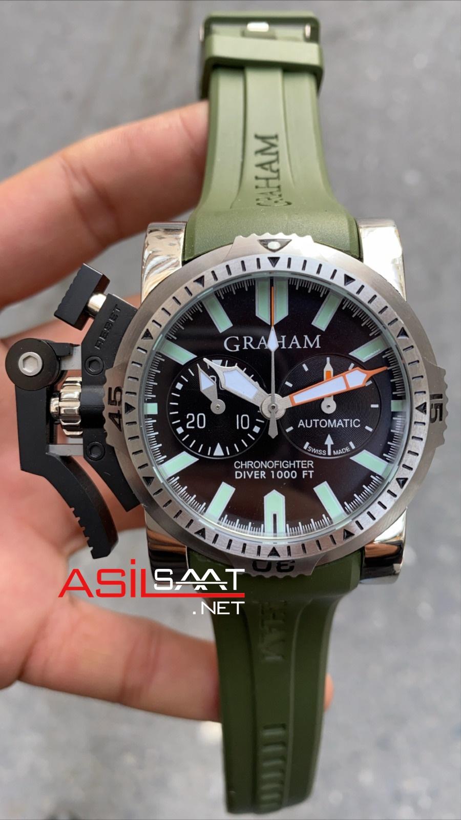 Graham Chronofighter Silver Replika Saat GRCH001