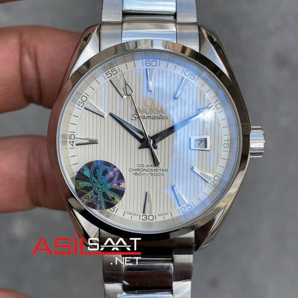 OMEGA Seamaster Aqua Terra Silver Replika Saat OSAT002