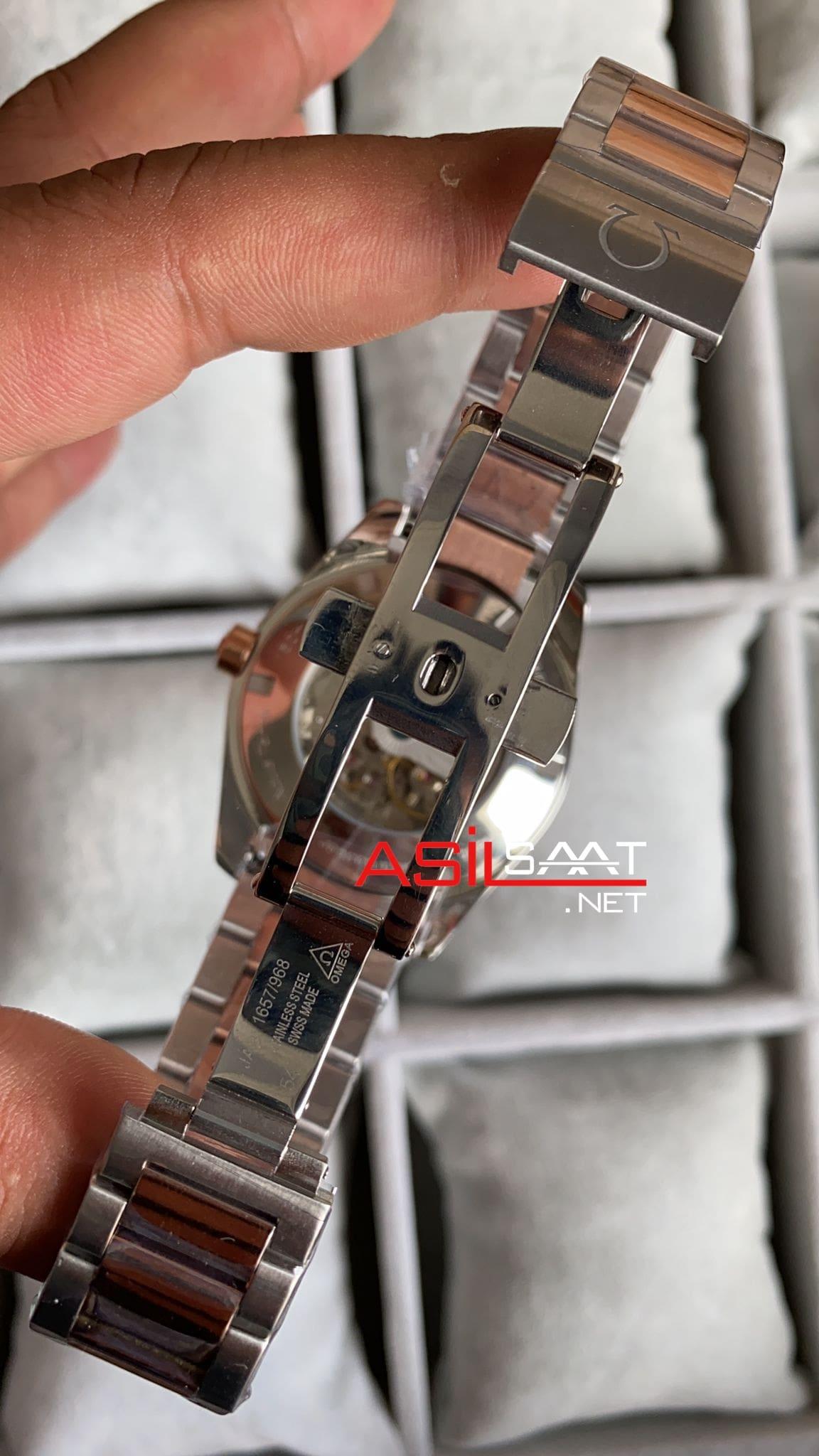 OMEGA Seamaster Aqua Terra Silver Rosegold Replika Saat OSAT004