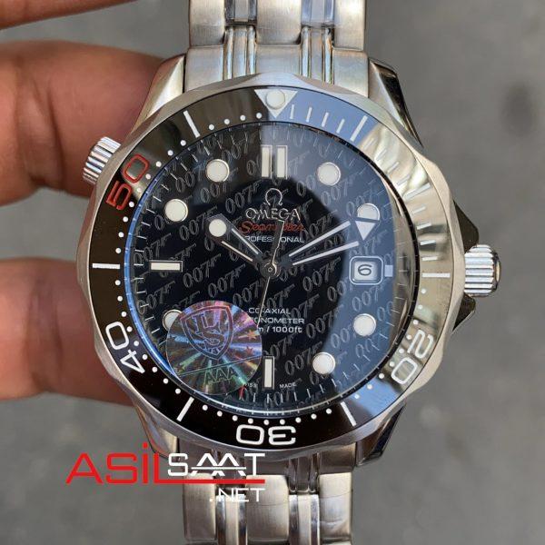 OMEGA Seamaster Diver 300M James Bond Silver Replika Saat OSD010