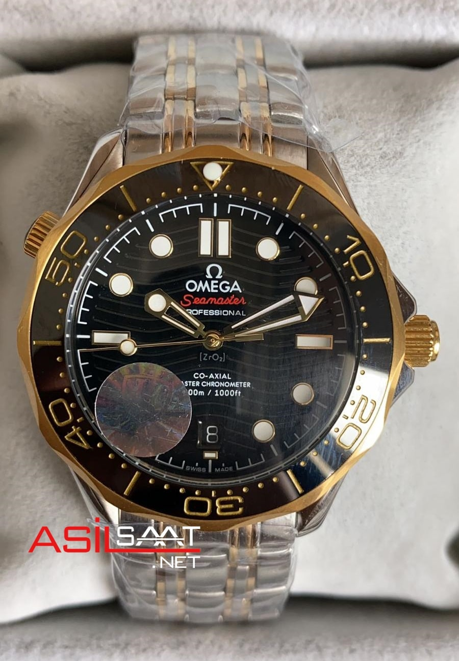 OMEGA Seamaster Diver 300M Silver Gold Replika Saat OSD004