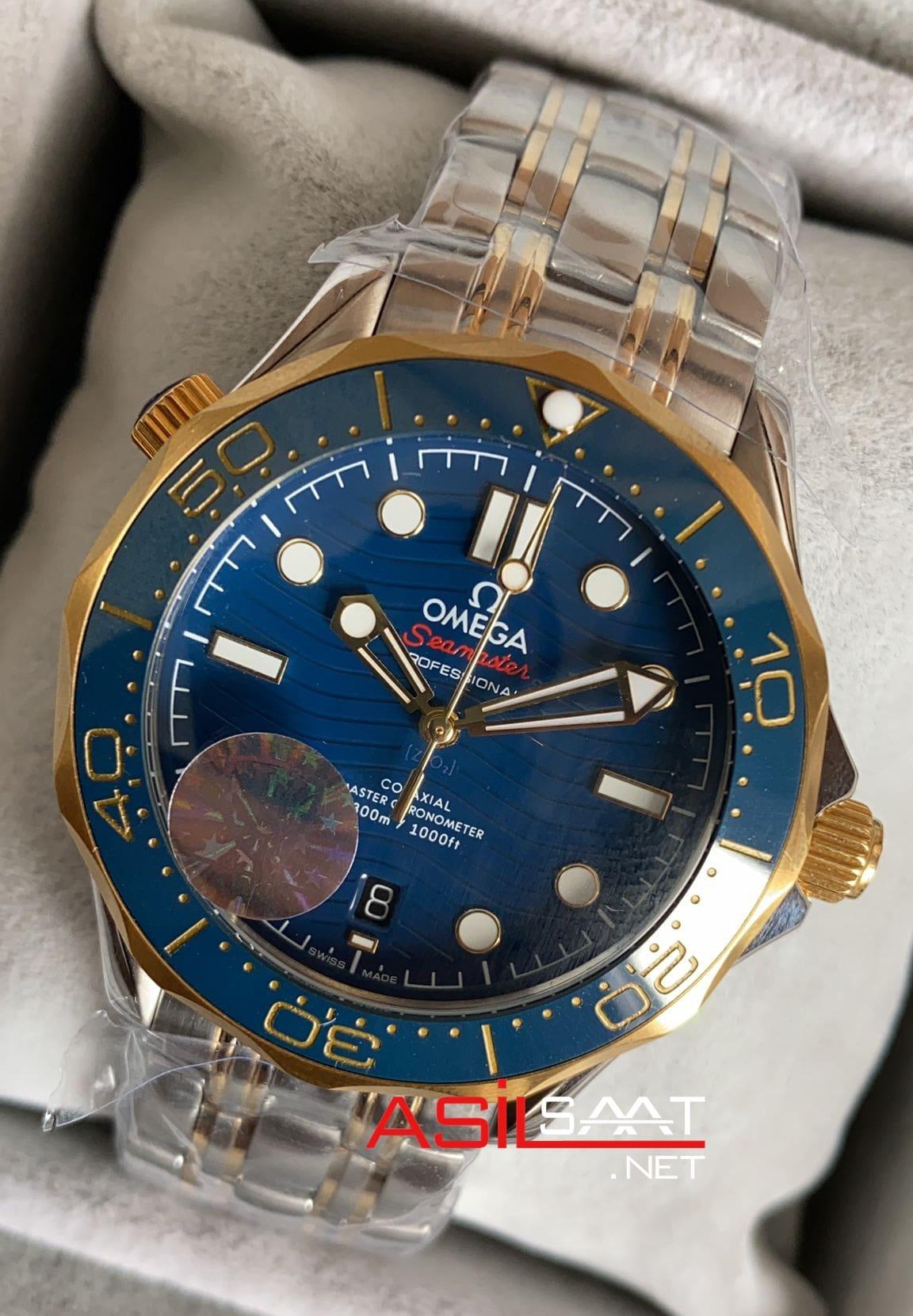 OMEGA Seamaster Diver 300M Silver Gold Replika Saat OSD005