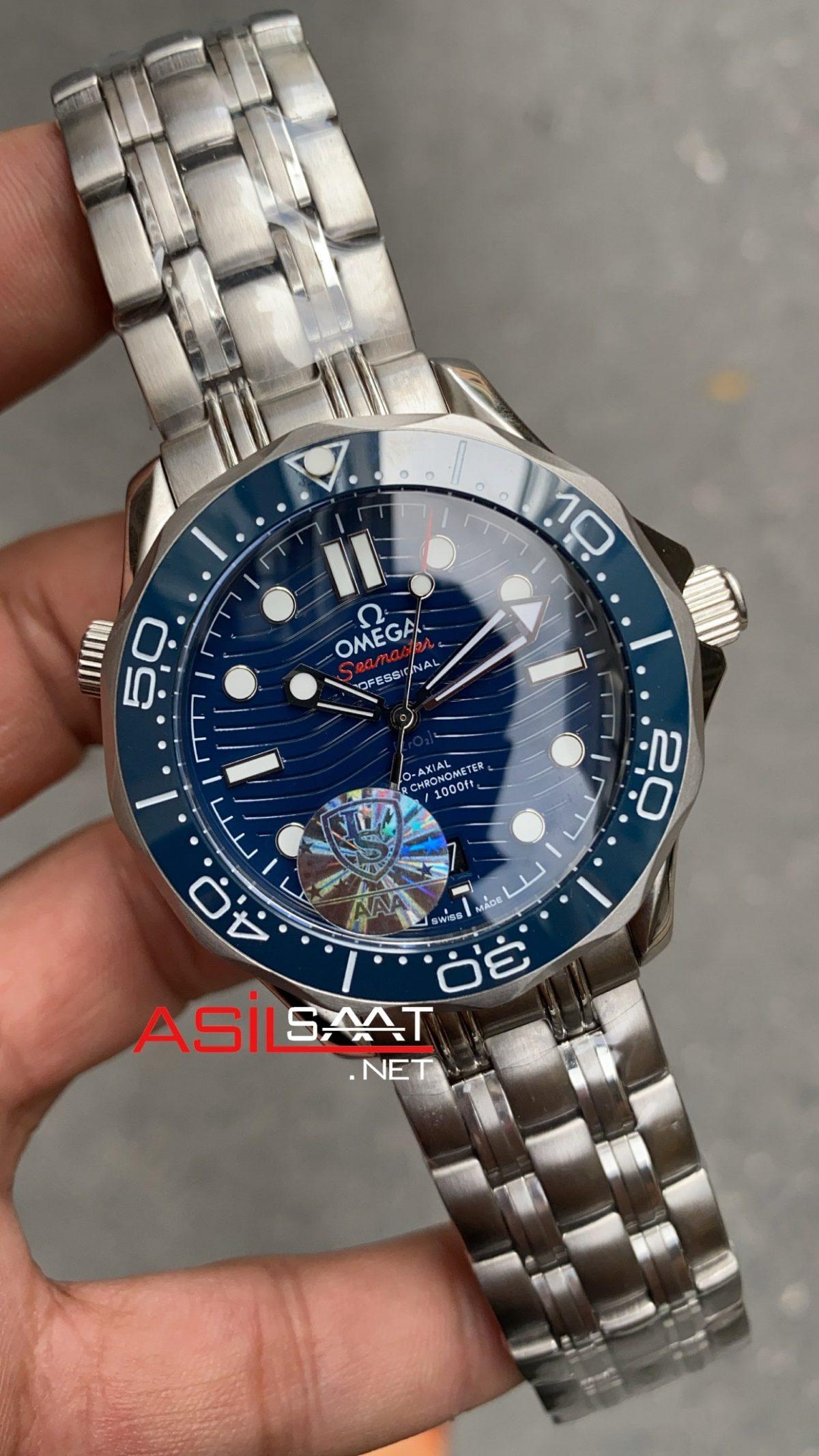 OMEGA Seamaster Diver 300M Silver Replika Saat OSD002