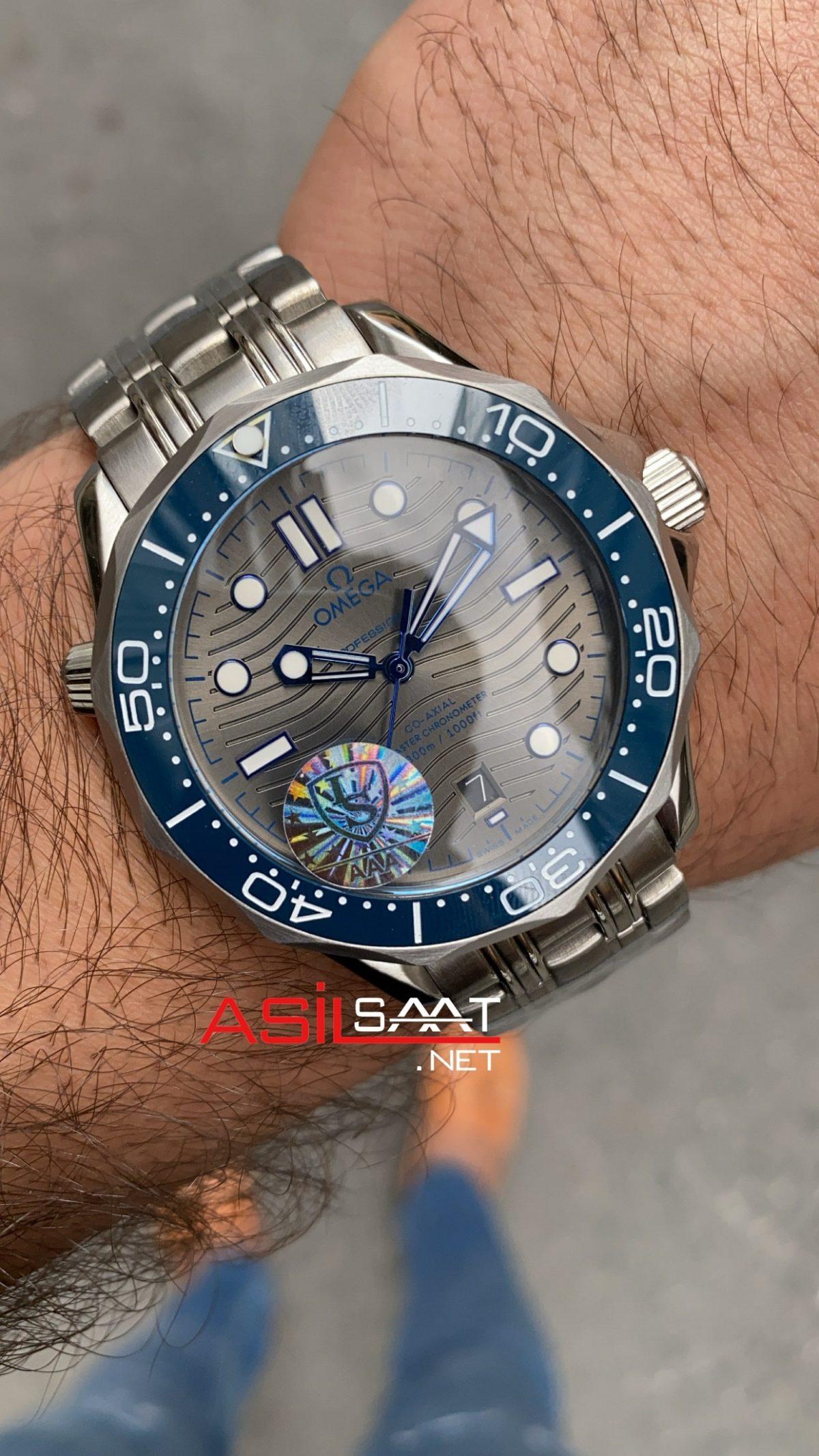 OMEGA Seamaster Diver 300M Silver Replika Saat OSD003
