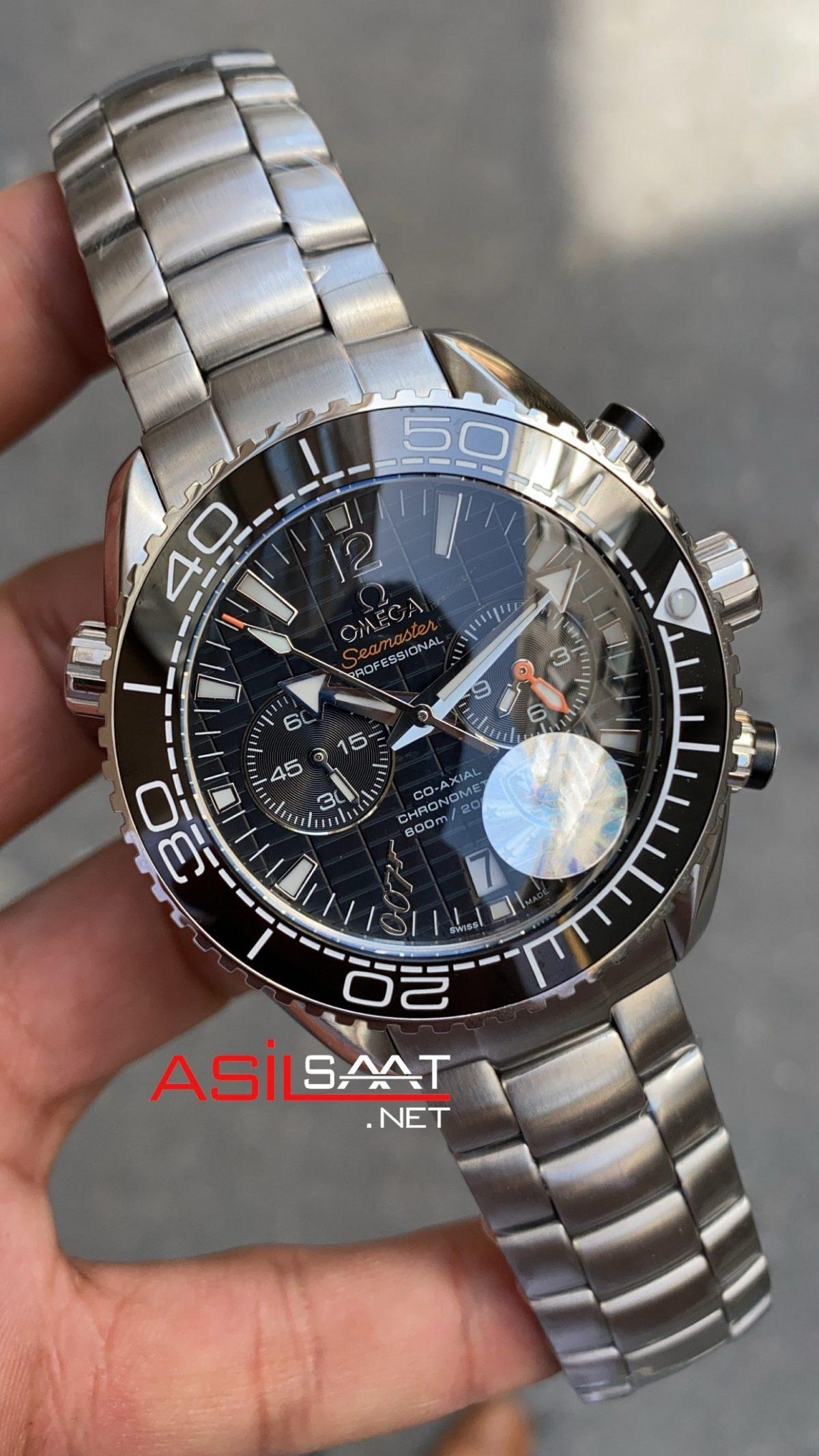 Omega Seamaster James Bond Planet Ocean Silver Replika Saat OSJP001