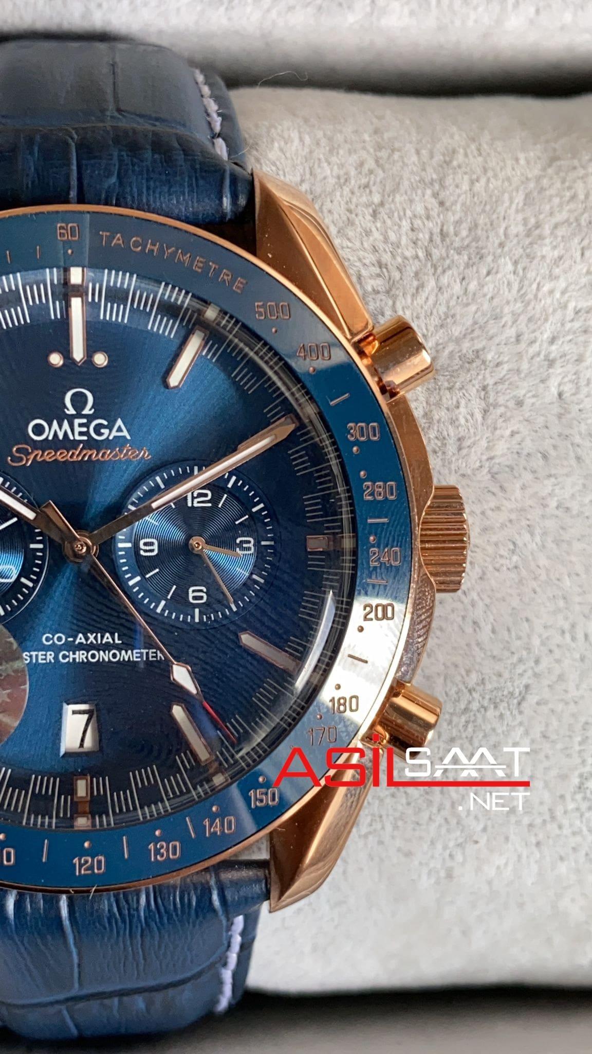 OMEGA Speedmaster Dark Side Of The Moon Rosegold Blue Replika Saat OSDS002