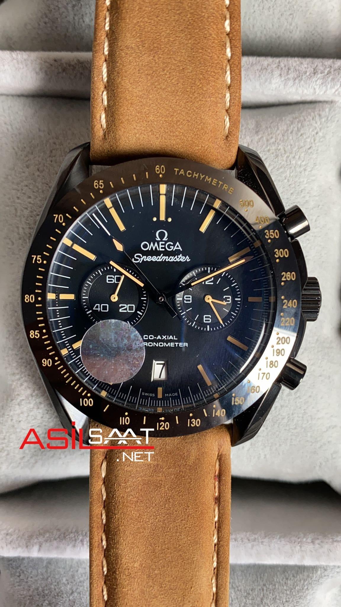 OMEGA Speedmaster Dark Side Of The Moon Vintage Black Replika Saat OSDS004