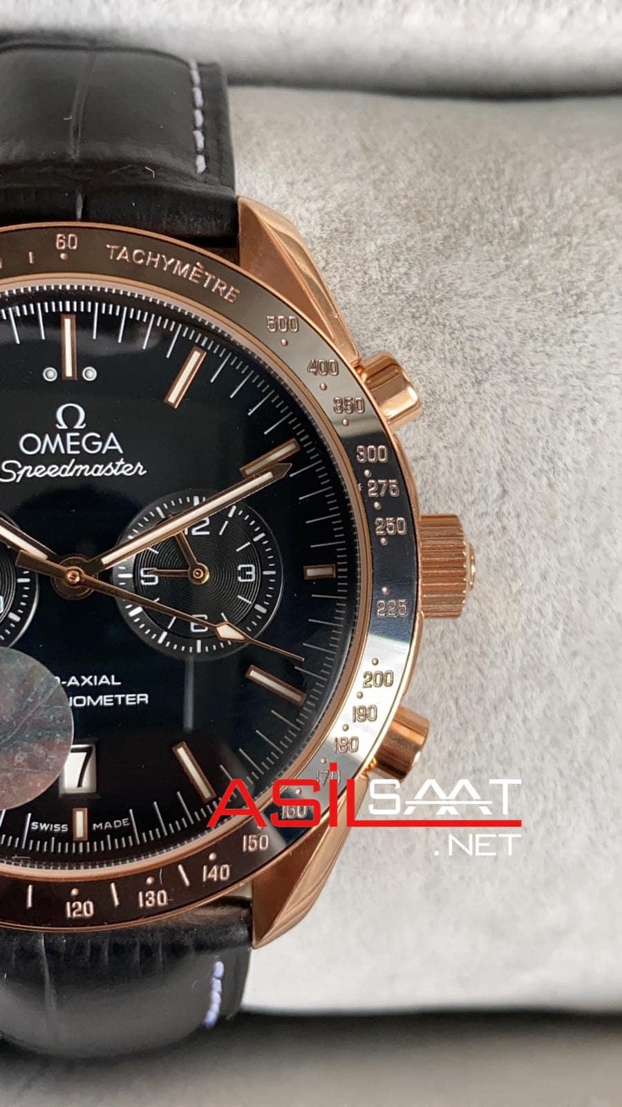 OMEGA Speedmaster Racing Rosegold Black Replika Saat OSR003