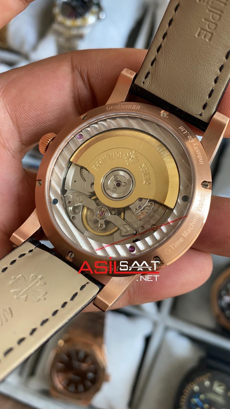 PATEK PHILIPPE Geneve Power Reserve Dual Time Rosegold Replika Saat PPDU010